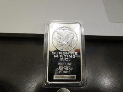 Fake Sunshine Mint 1 oz silver bar